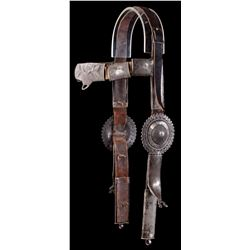 Early Navajo Silver Headstall