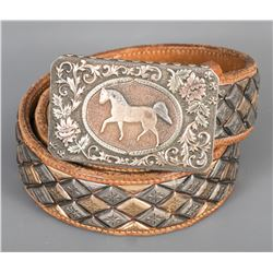 "Karl's / Don Ellis ""Palomino"" Buckle and Belt"