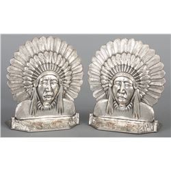 Important Edward H. Bohlin Sterling Bookends