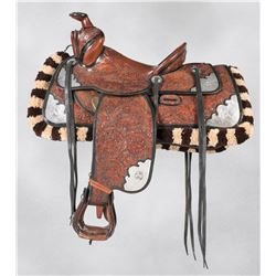 Stunning Two Tone Parade Saddle Set by Lawrence