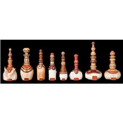 Hide and Rawhide Braided Bottles/Decanters by Duff Severe
