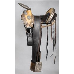 A Fine Silver Mounted Maximilian Period Charro Saddle from the Chladiuk Museum Collection