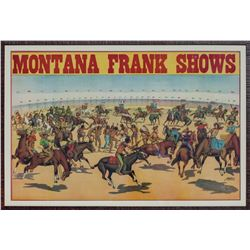 Montana Frank Wild West Show Lithograph