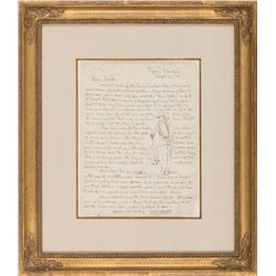Will James Illustrated Letter to Jack Connolly