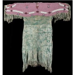 Lakota Sioux Beaded and Fringed Dress