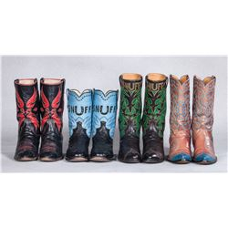 Snuff's Colorful Custom Boots