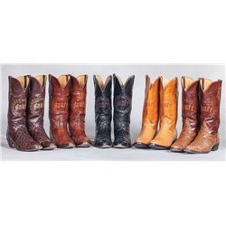 Five Pair of Snuff's Custom Exotic Cowboy Boots