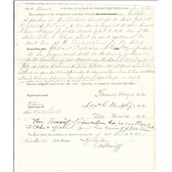 Sheriff's Bond signed by L. Murphy, Fort Stanton