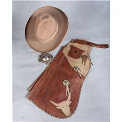 Child's Batwing Chaps and Cowboy Hat