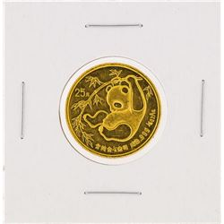 1985  1/4 oz China Panda Gold Coin