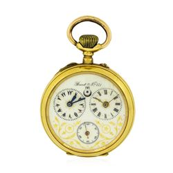 Antique Brevet N171 Pocket Watch - 18KT Yellow Gold