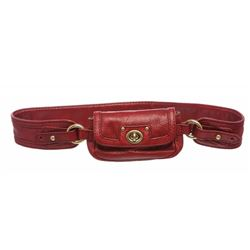 Marc Jacobs Burgundy Red Textured Leather Waist Bag
