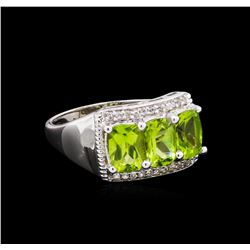 Crayola 2.40 ctw Peridot and White Sapphire Ring - .925 Silver