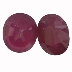 9.7 ctw Oval Mixed Ruby Parcel