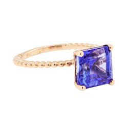 4.28 ctw Tanzanite Ring - 14KT Rose Gold