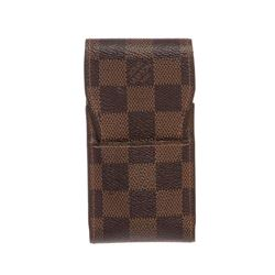 Louis Vuitton Damier Ebene Canvas Leather Phone Case