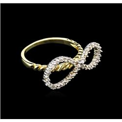 0.35 ctw Diamond Ring - 14KT Two-Tone Gold