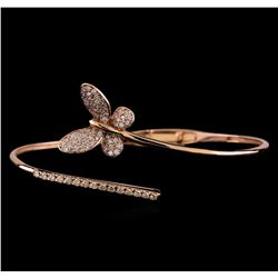 1.07 ctw Diamond Bracelet - 14KT Rose Gold