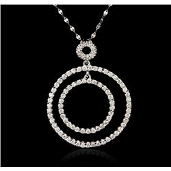 14KT White Gold 1.48 ctw Diamond Pendant With Chain