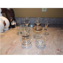 Misc. Glassware 8 pc.s $5 to $10
