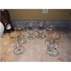 6 Wine Glasses $5 to $10