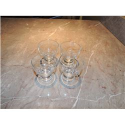 4 Brandy Sniffer Glasses $10 to $30