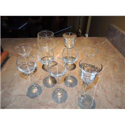 9 Misc. Brandy Sniffer Glasses $5 to $10