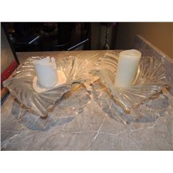 Set of 2 Glass Candle Holders $10 to $25