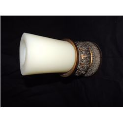 Gold Leaf Candle Holder with white candle $10 to $25