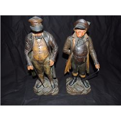 2 Table top statuettes of gentlemen with canes $50 to $150