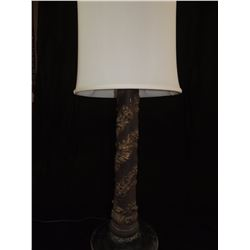 Extra Large Tan & Gold Table Lamp with shade $25 to $75