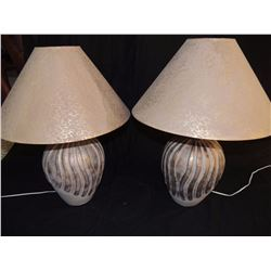 2 Table Lamps with Shades $50 to $150