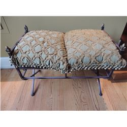 Wire Bench with Decorative Pillows for Seat Cushions $85 to $170
