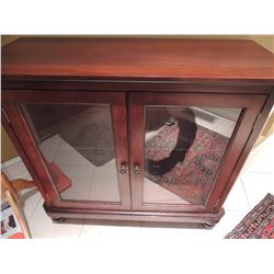 Wooden Curio with 2 Glass Doors $250 to $500