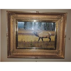 """Oil Painting by Harold Stack, """"Solitary Warrior"""" 14""""H x 20""""W - Signed $400 to $800"""