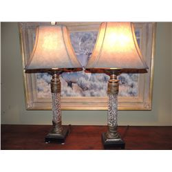 2 Faux Antler Table Lamps with Brown Shade (Very Nice Pair of Lamps) $75 to $150