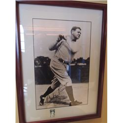 Babe Ruth Signed Photograph with a Babe Ruth Stamp $150 to $300