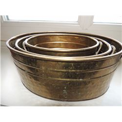Set of 3 Brass Small Tubs $85 to $170