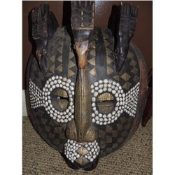 African Wall Hanging - Oval Face with stones $175 to $350