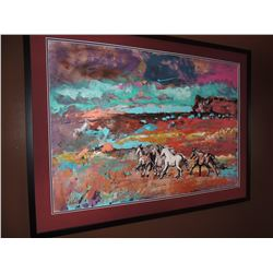 """Acrylic Painting, """"Untitled Horses"""", by Amy R Stein 29""""H x 42W $150 to $300"""
