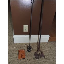 """2 Branding Irons """"CH"""" and """"CF"""" $150 to $300"""