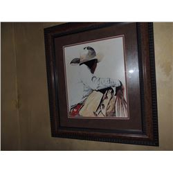 """Cowboy Painting, """"Waiting Turn"""", by John Saunders - Signed $75 to $150"""