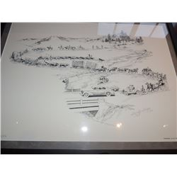 """Drawing, """"Progress"""" by Shorty Shope - signed and numbered $50 to $100"""