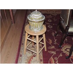 Bar stool with small pot with lid $15 to $30