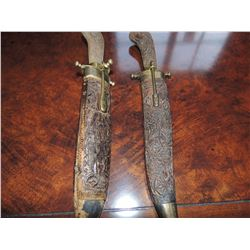 Antique Fork & Knife set with holders $50 to $150