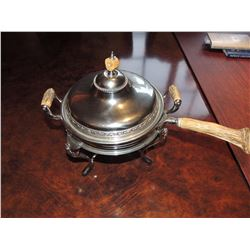 Fondu Pot with horn handles and knobs $40 to $80