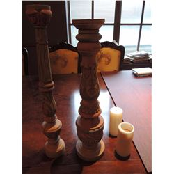 Large Wooden Candle Holders $65 to $130