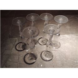 6 Champagne Flutes $30 to $60