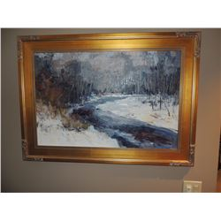 """Oil Painting, """"Gift of Winter"""", by Troy Colin 24""""H x 36""""W $300 to $600"""