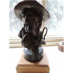 """Bronze Sculpture, """"Untitled Sheep Herder"""" by Lyle Johnson $200 to $400"""